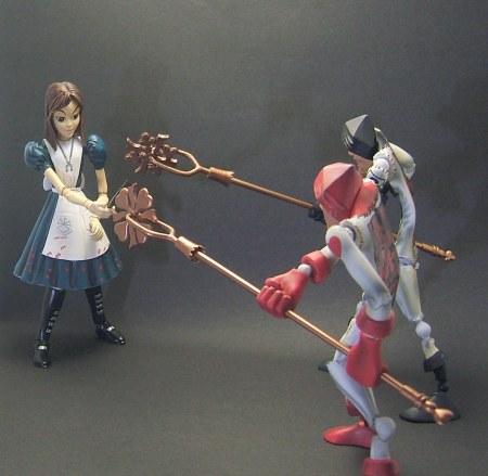 トランプ兵と戦うアリス