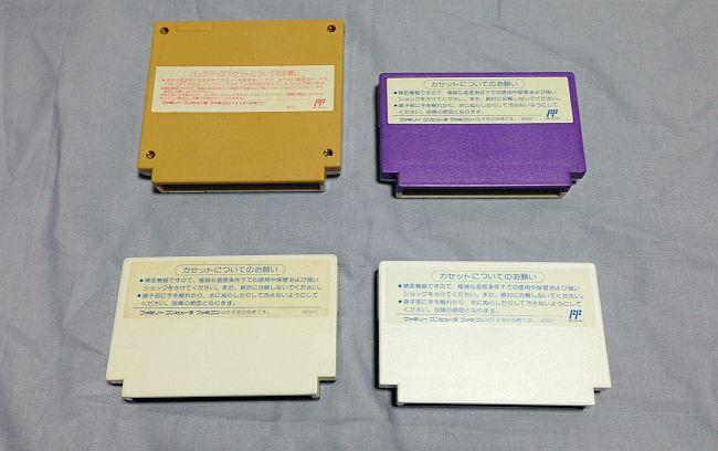 2色のファミコンカセット