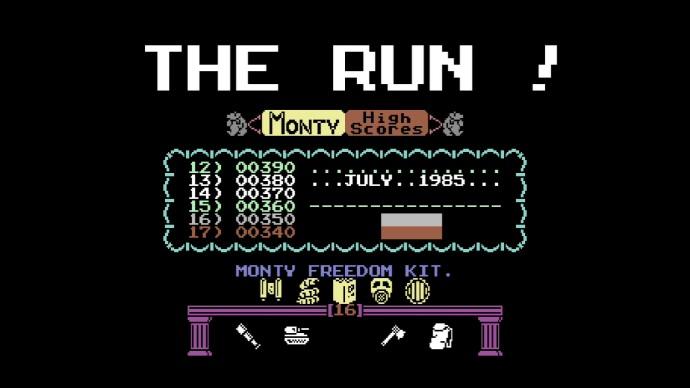 Monty on the run