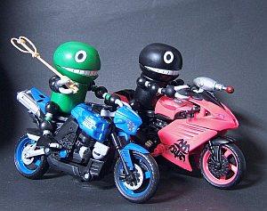 盗んだバイク前
